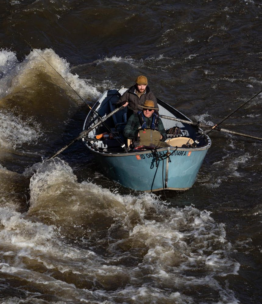 rowing the drift boat