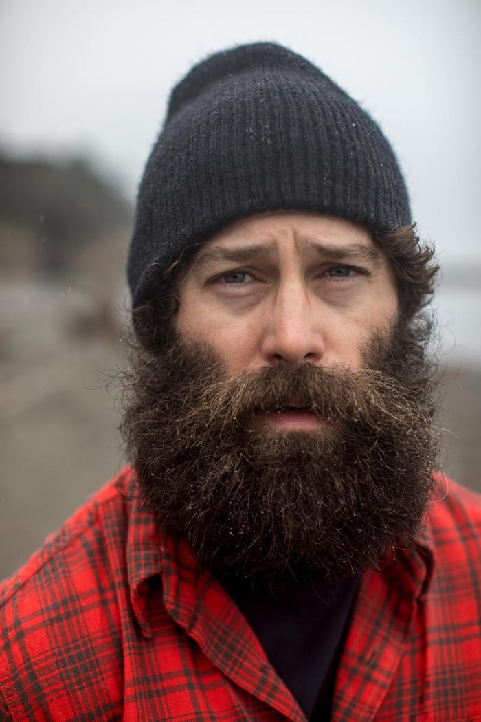portrait, eric jackson with red flannel and big brown beard