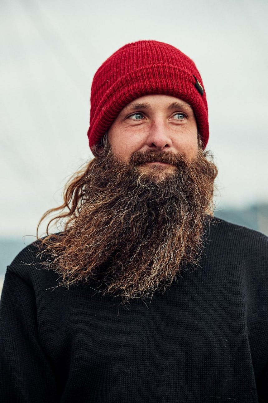 portrait of pat with long brown beard