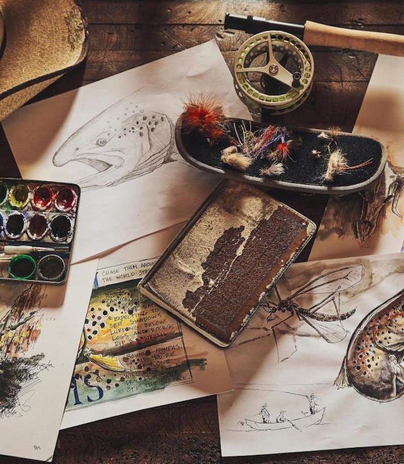 Ed's art in his journals