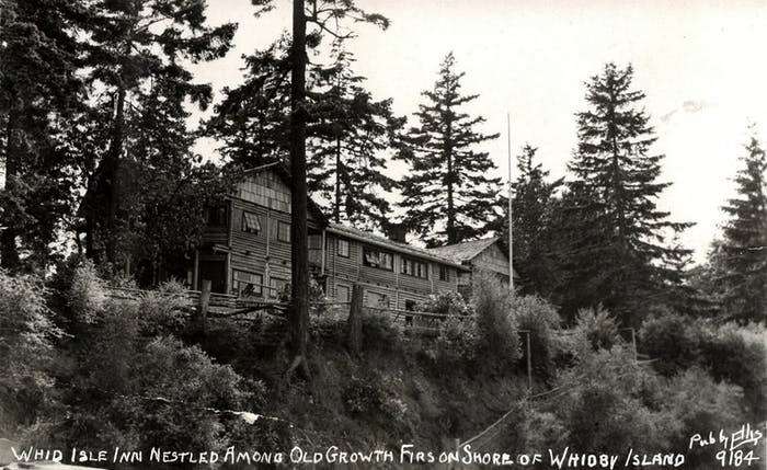 whid isle inn nestled among old growth firs on shore of whidby island