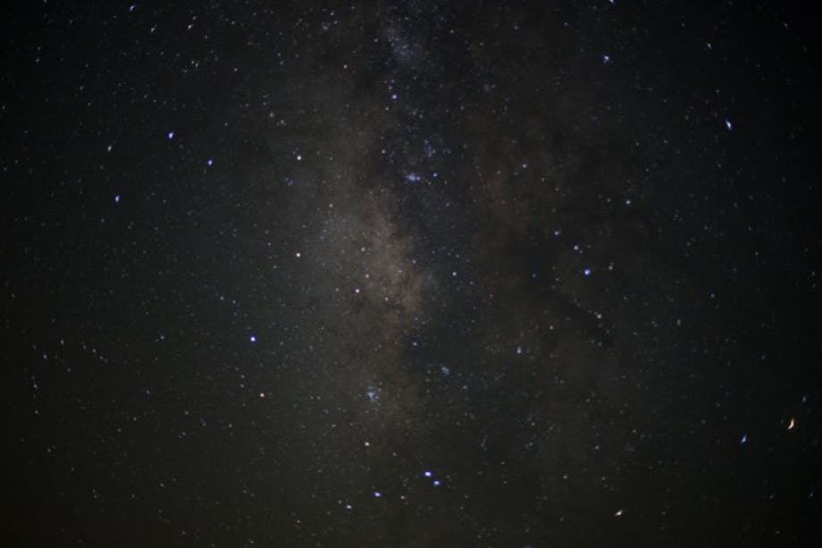 night time sky with milky way visible