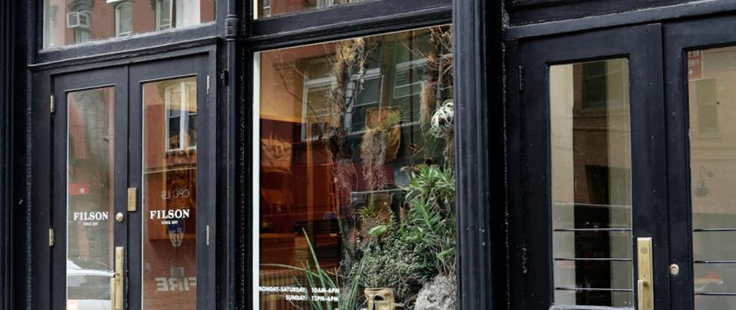 Filson storefront New York