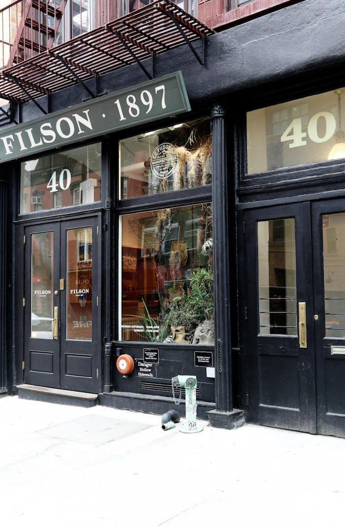 Filson storefront New York