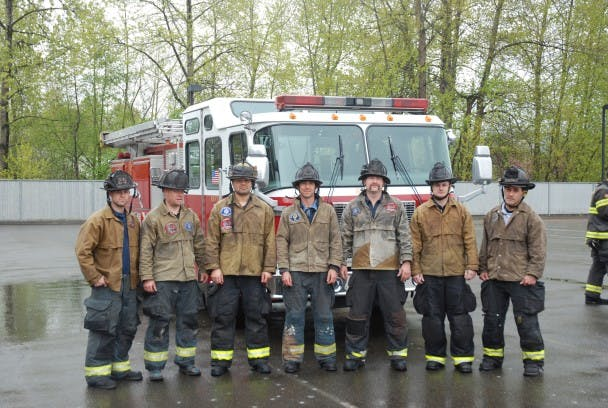 Fire Crew in Tin Cloth