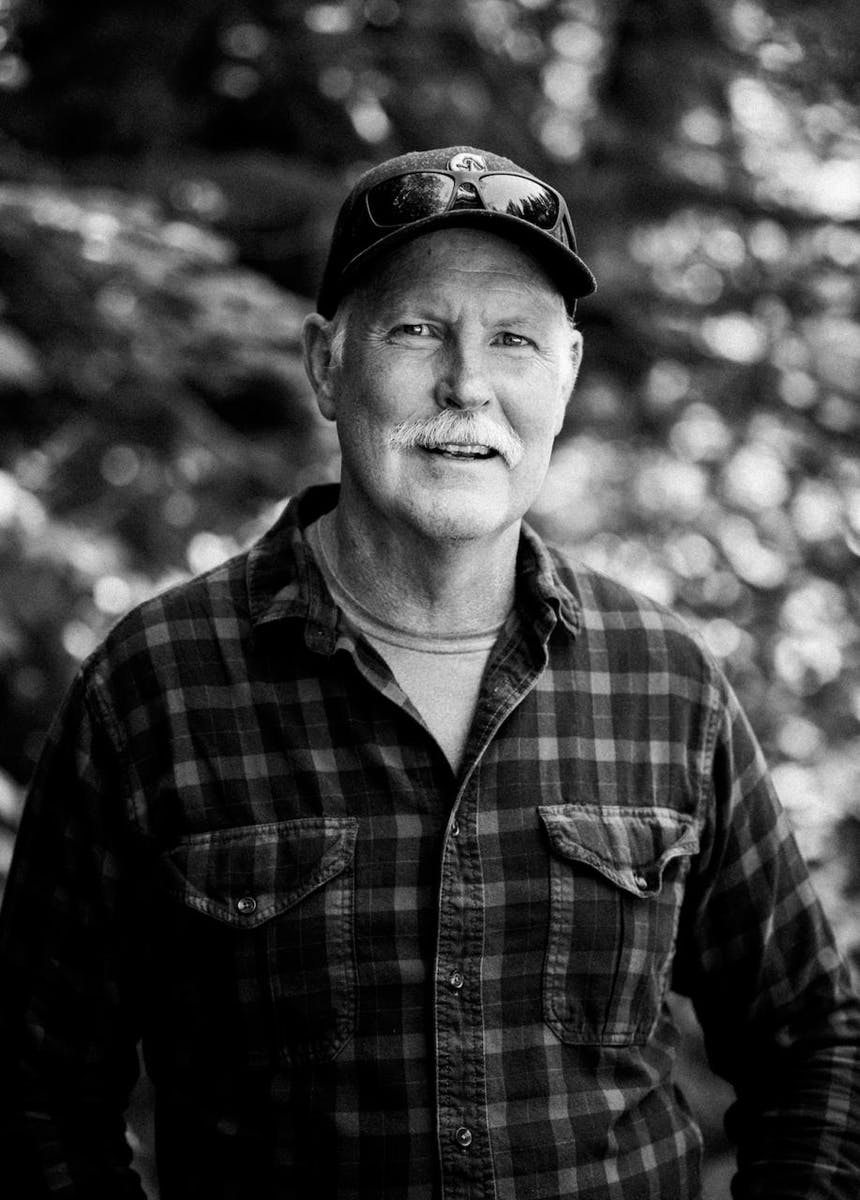 portrait of Larry Ford, owner of Blue Heron Lodge