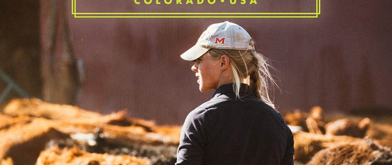 Ranchlands - Samantha Bradford in white hat surveying her livestock