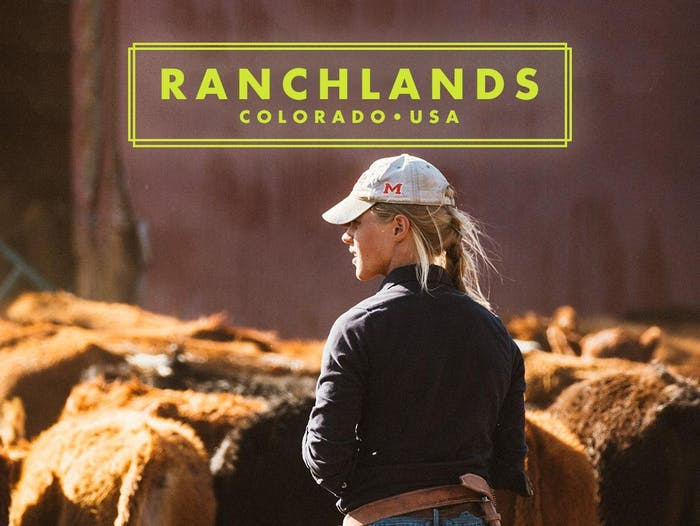 Ranchlands - Samantha Bradford in white hat surveying her livestock