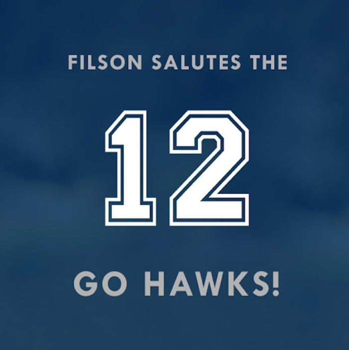 filson salutes the 12 Go Hawks logo
