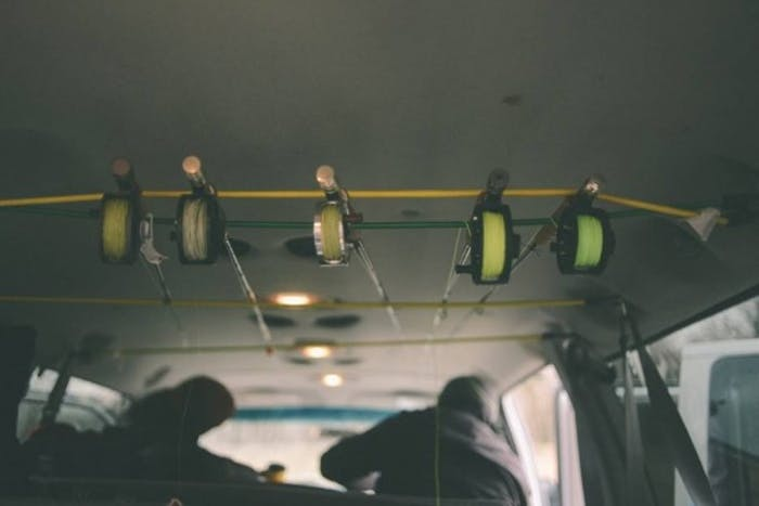 fly fish rack in van