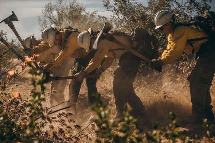 hotshot fire crew working