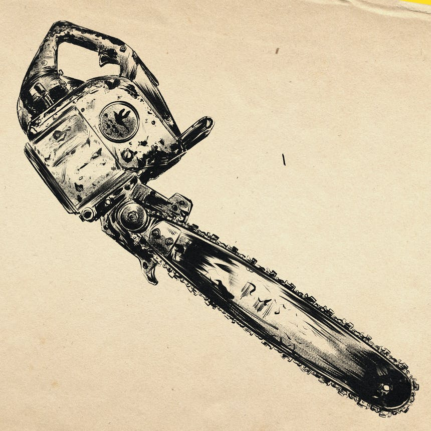 sketch of chainsaw