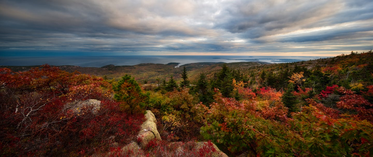 fall color landscape in Maine