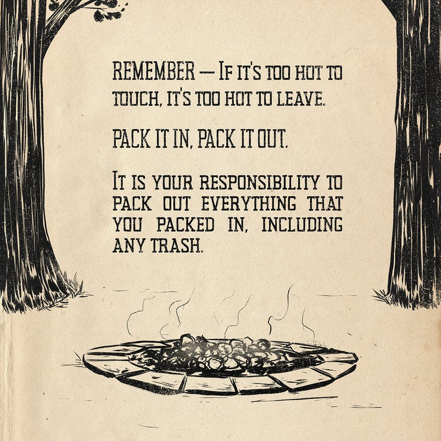 info-graphic: pack it in, pack it out to be more responsible