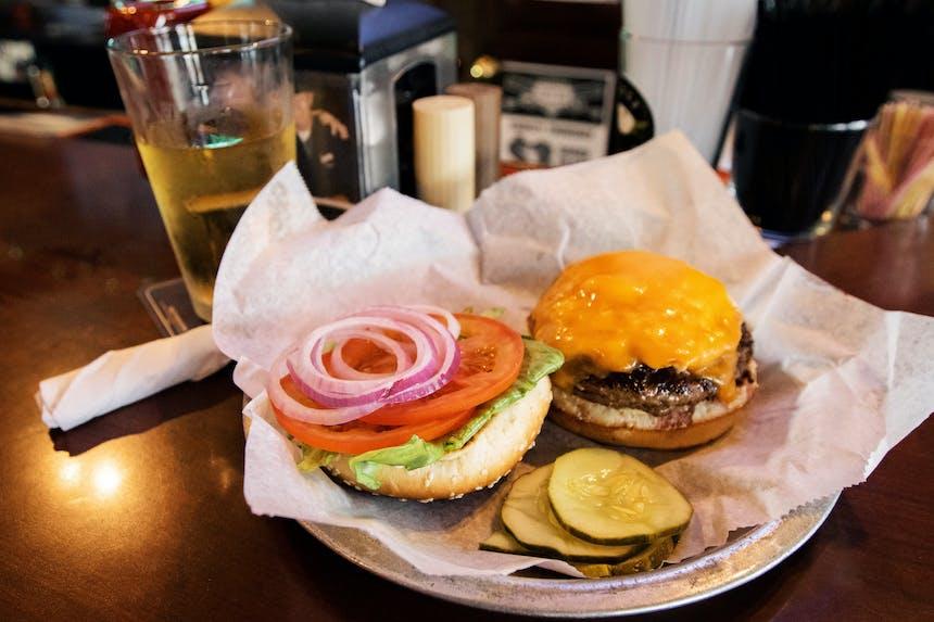 open faced burger