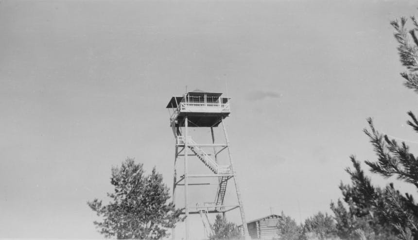 historic image of monument peak lookout