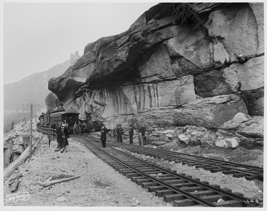 A section of the White Pass & Yukon Route railroad, ca. 1899_MOHAI_1983.10.13124