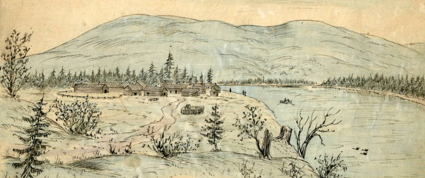 Old Fort Colville by Alfred Downing 1882