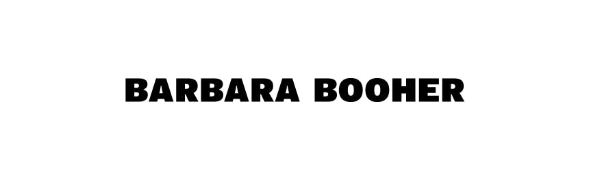 Barbara Booher Black text on White background