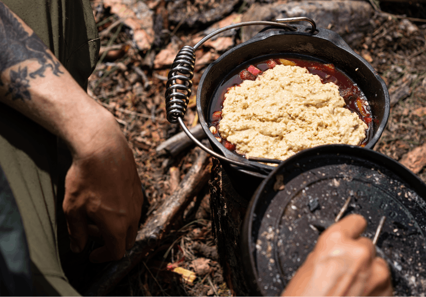 Fire-Baked Dutch Oven Cobbler_3
