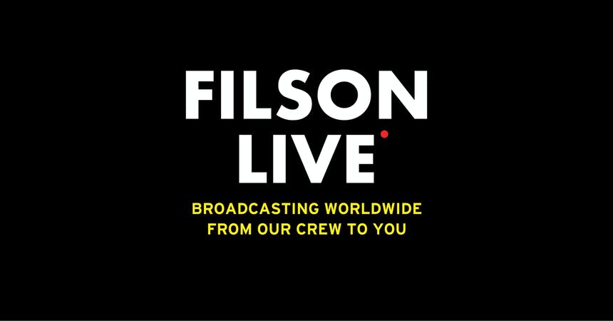 filson live thumbnail with yellow text and black background