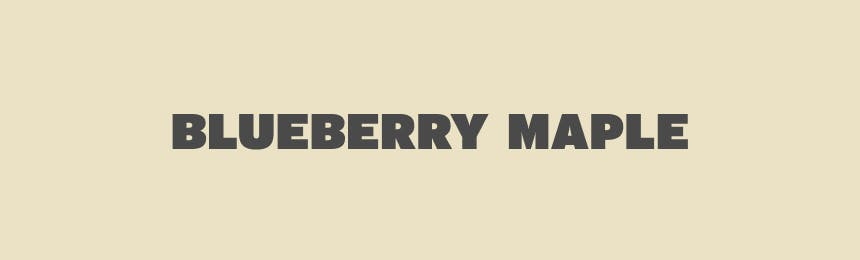 Blueberry Maple