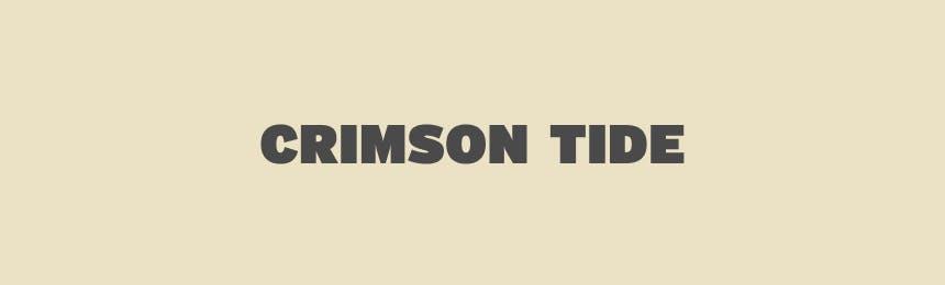 text reading crimson tide