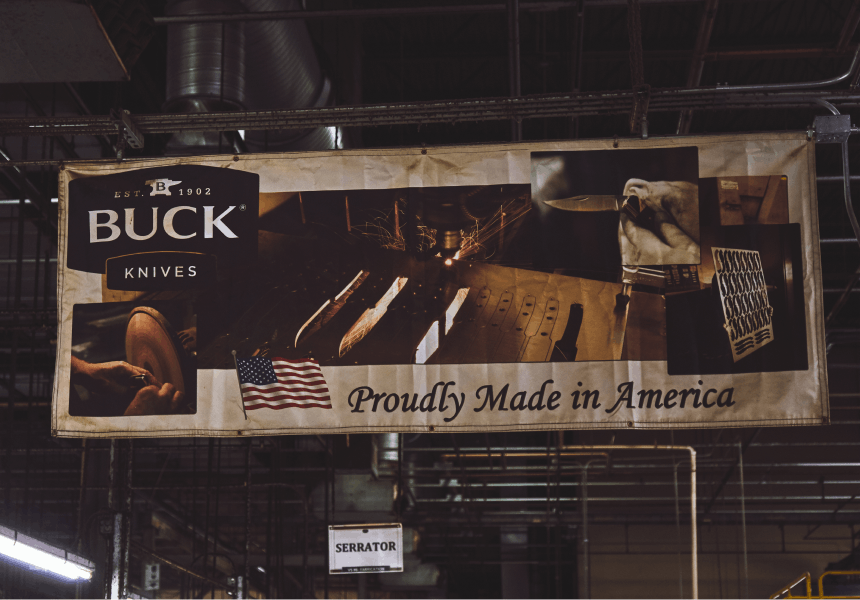 buck knives billboard