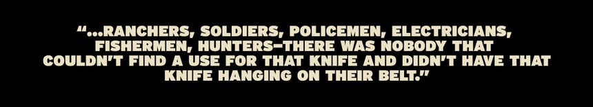 quote about people needing a knife