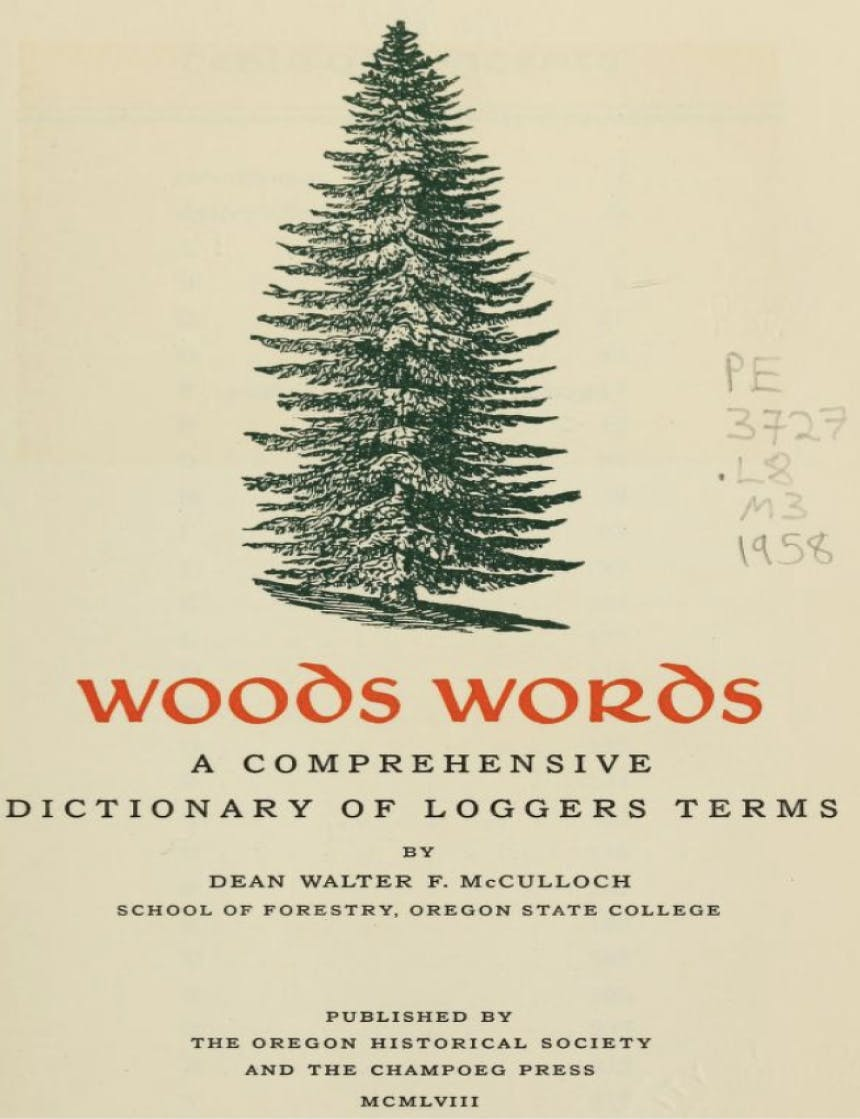 illustration of a pine tree text