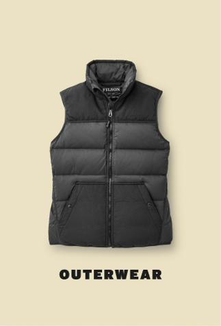 filson black vest