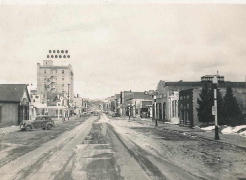 old image of bozeman mainstreet
