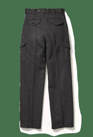 Gray Mackinaw Wool Pants