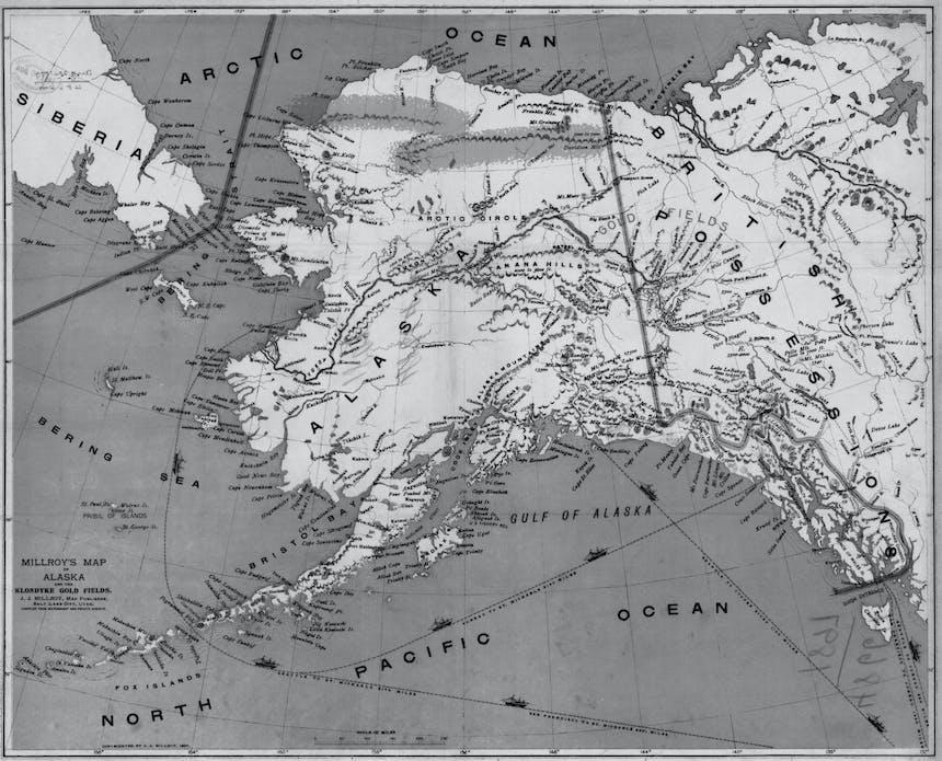 map of alaska and british columbia and siberia