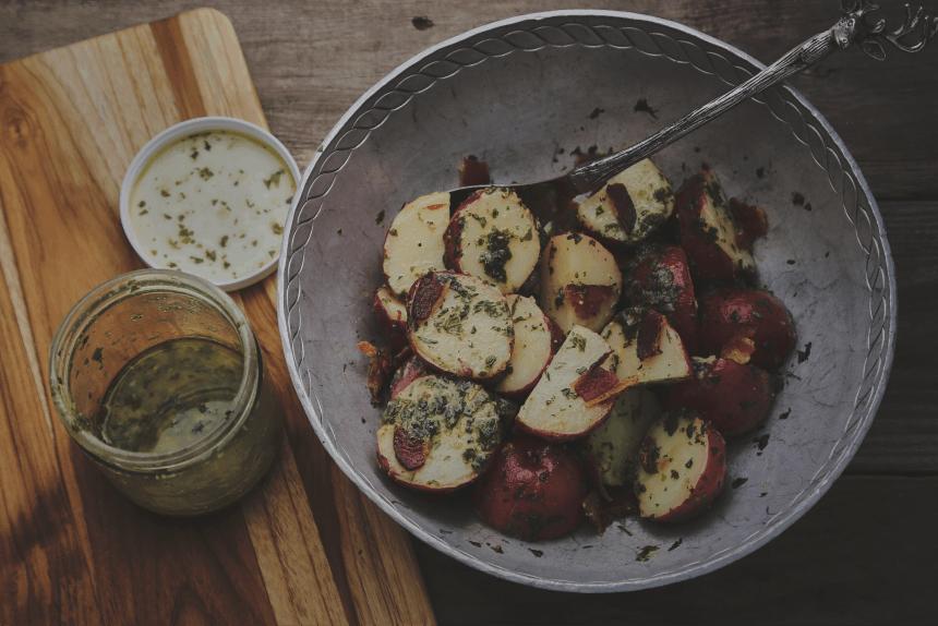 Garlic Mustard Potato Salad_6
