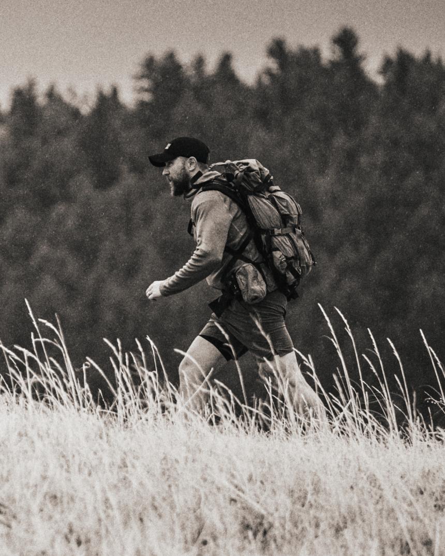 Hiker in the Montana wilderness.