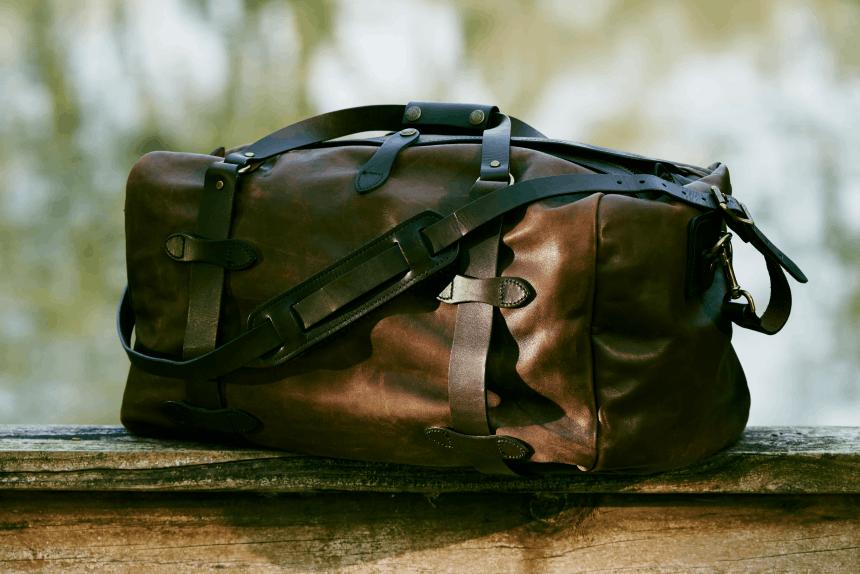 Filson Medium Weatherproof Leather Duffle Bag