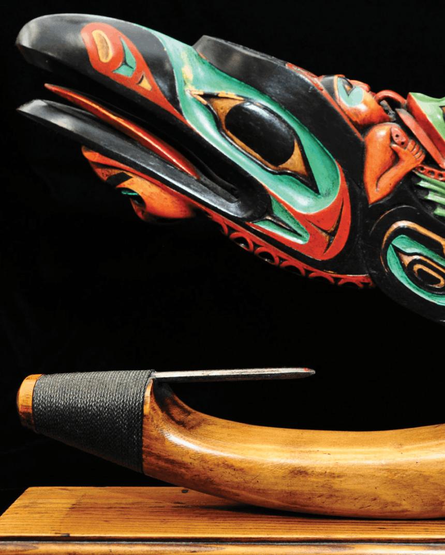 Tlingit artist Arthur B. Nelson's Devil Fish Halibut Hook.