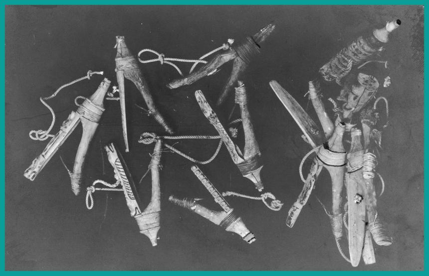 Vintage halibut hooks.