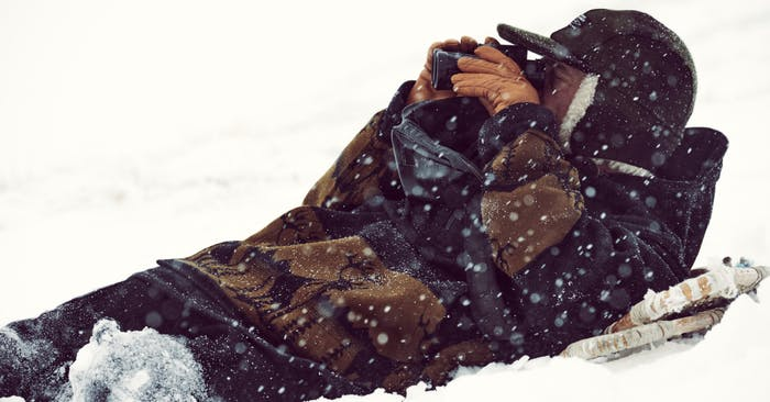 Seth Kantner on the arctic tundra
