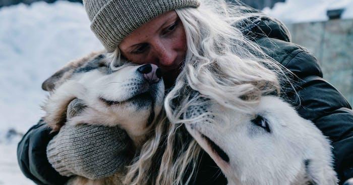 Tonje Blomseth with her huskies