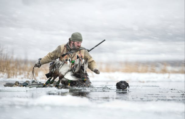 Duck Hunting in Winter