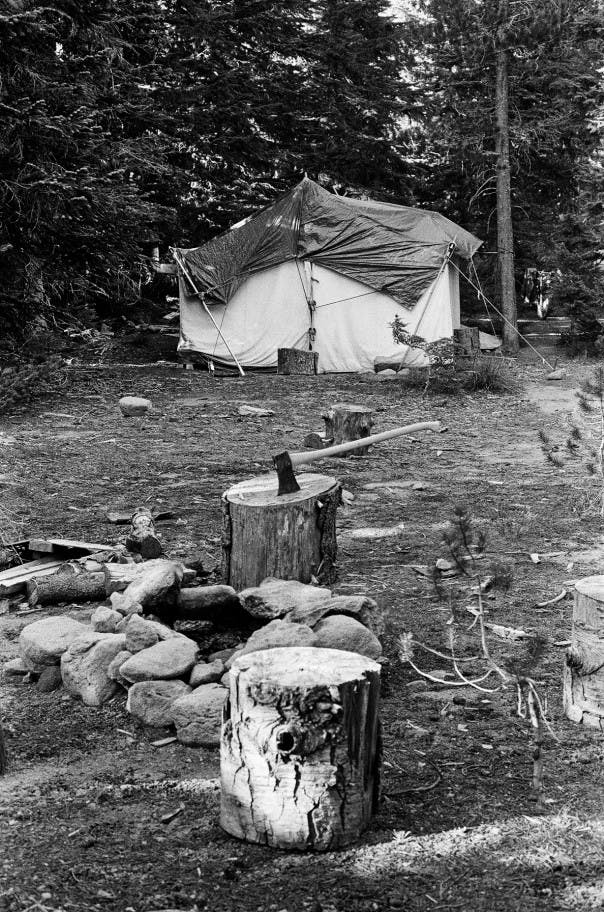 Life at camp. The trapping station is operated every day in September and October, the peak time for hawk migration.