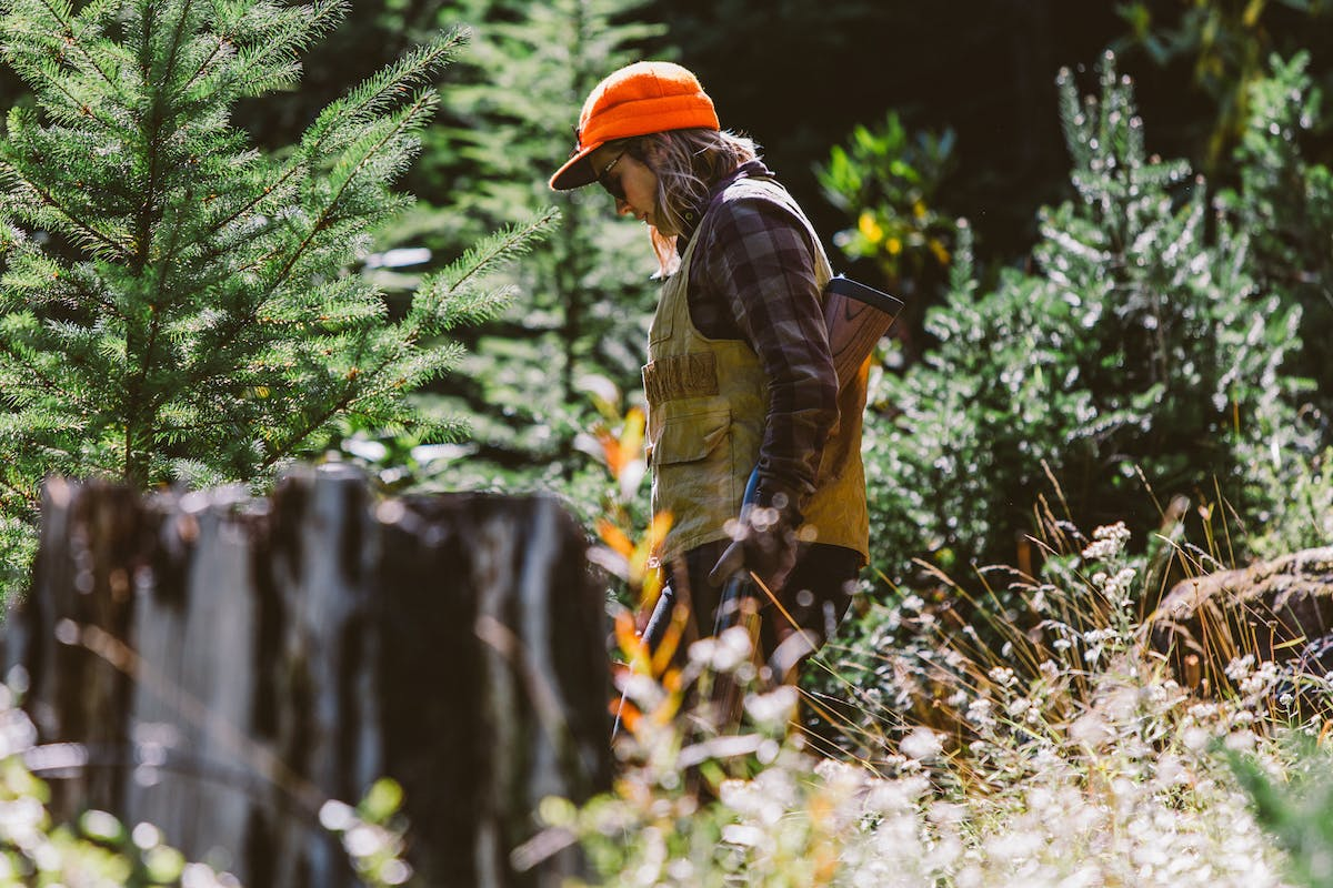 Filson Life - Patrick Colleran and Allison Riley hunting in the Olympic National Forest