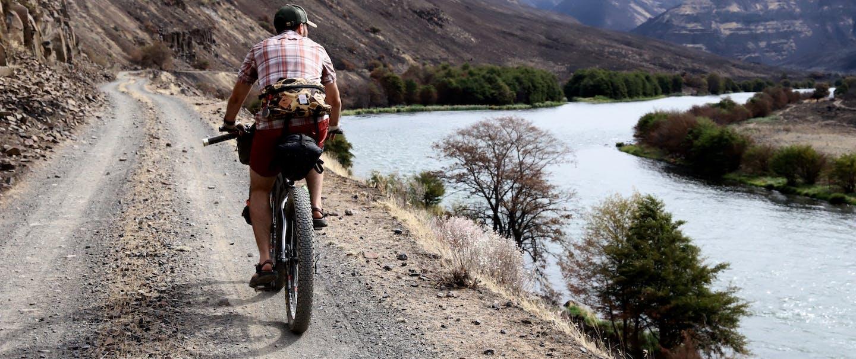 biking near the river