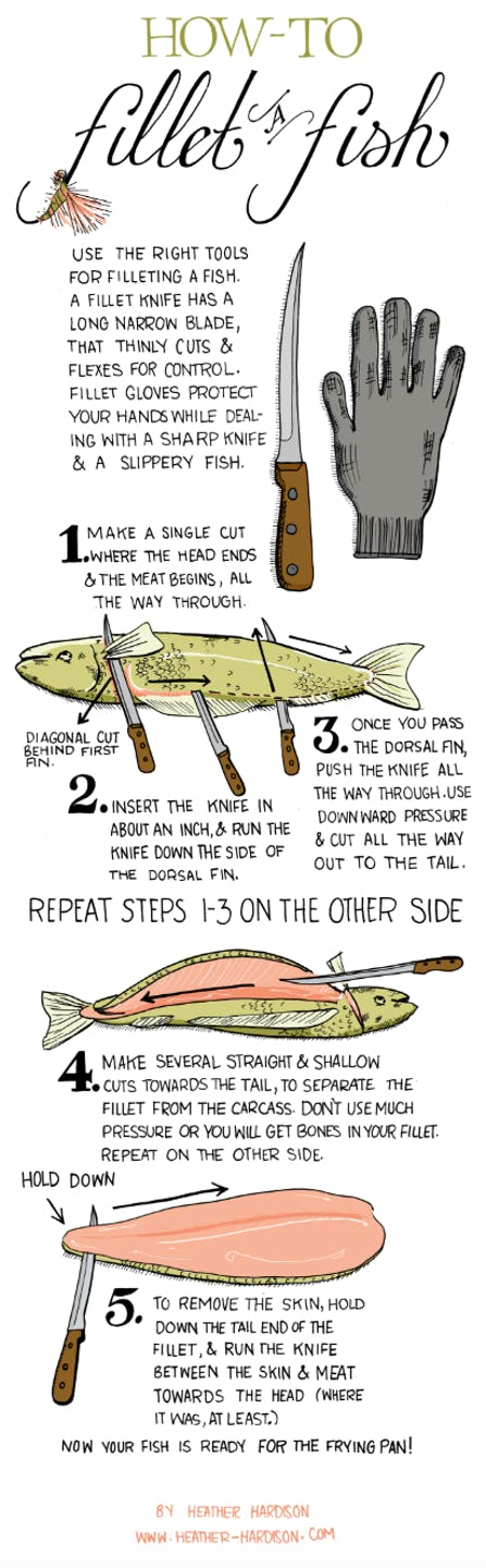 filet tutorial info graphic