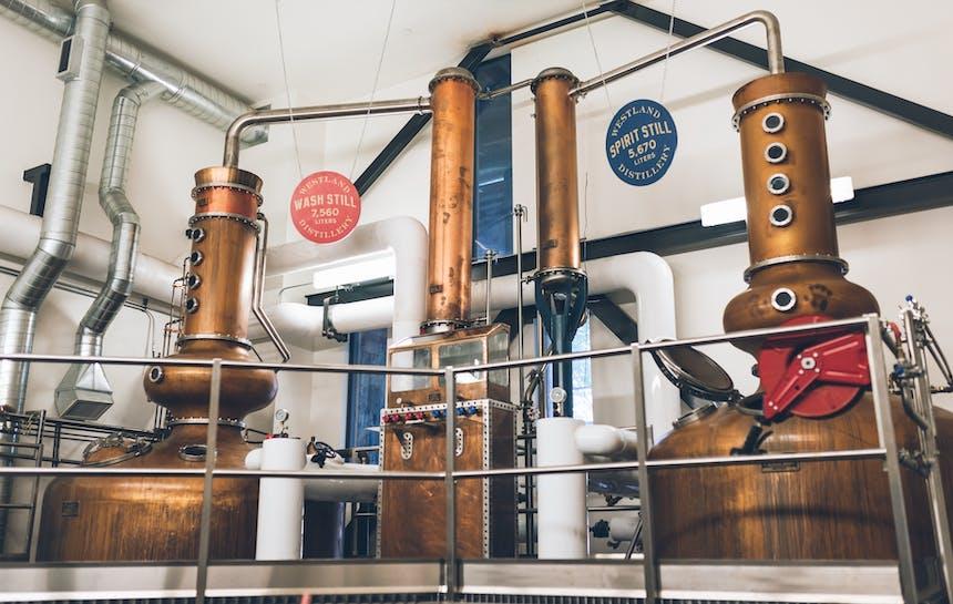 pot stills used in the distillation process