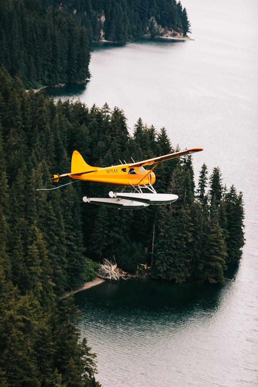 plane above Kodiak